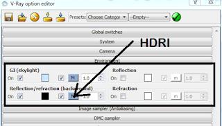 setting HDRI vray sketchup