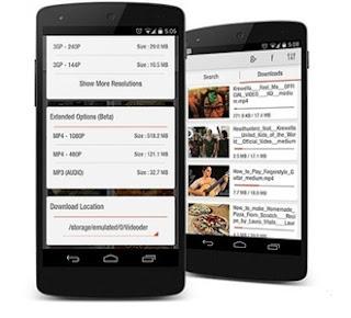 Aplikasi unduh video youtube Android - videoder