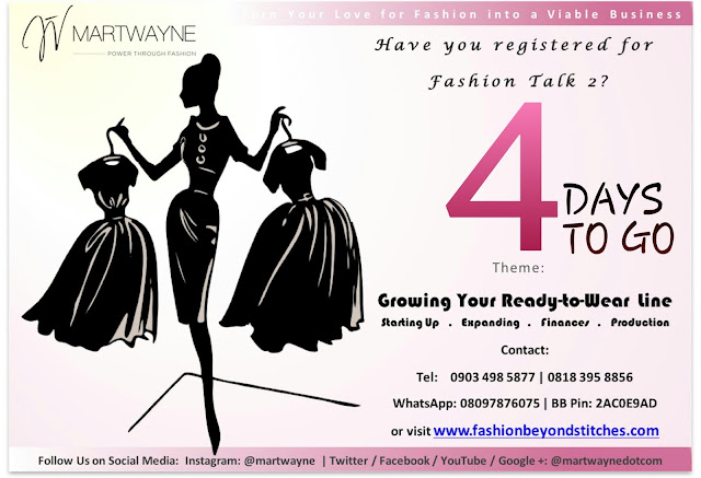 Start a Clothing Line!  Register for Fashion Talk 2!  We have just 4 days before the D-Day! :-D