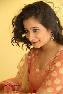 Telugu Actress Santoshi Sharma Latest Stills in Salwar Kameez at HBD Movie Teaser Launch  0061.JPG