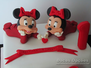 fondant sugarpaste minnie baby