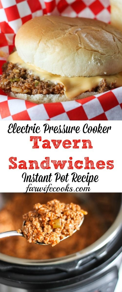 Tavern Burgers - Electric Pressure Cooker Recipe