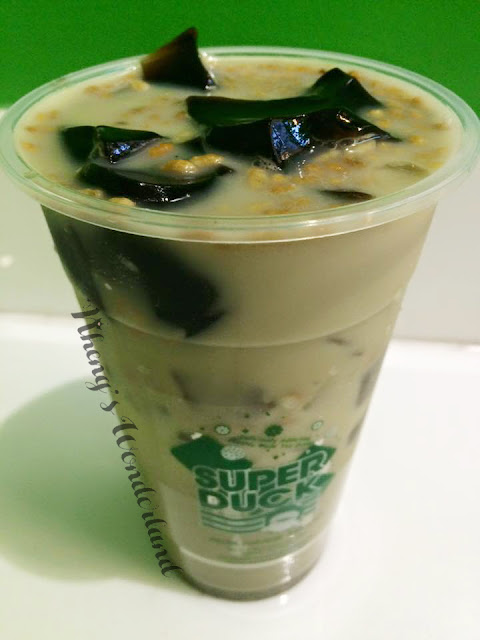 Super Duck Modern Tea Shop: Roasted Matcha with Brown Rice and Grass Jelly