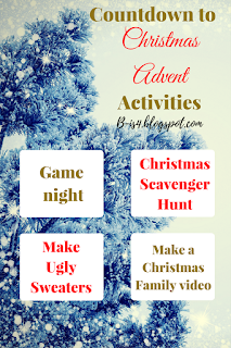 Countdown to Christmas Advent Activities