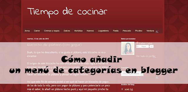 menu categorias blogger