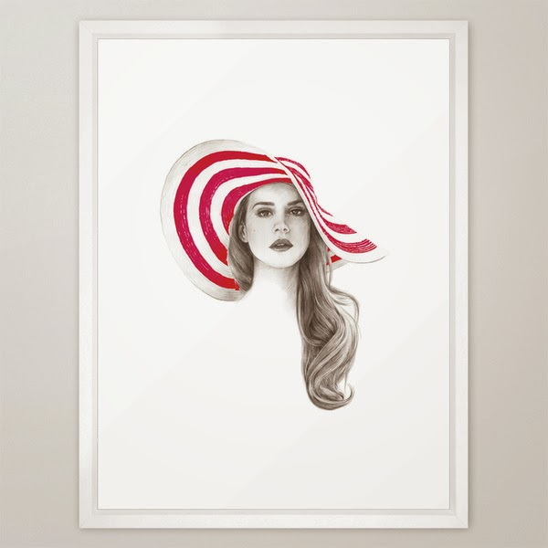 lana del rey art print - photo #15