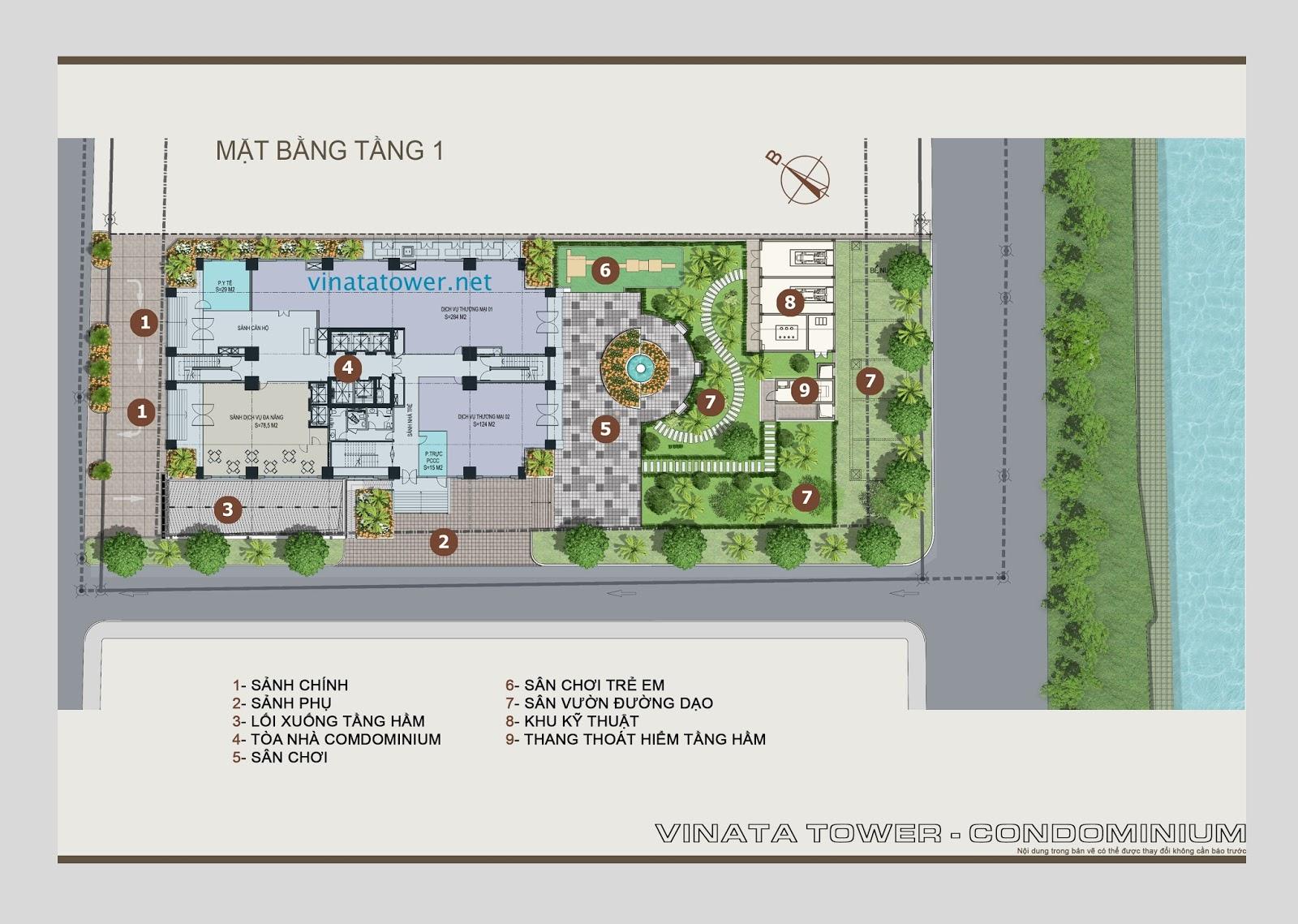 Vị trí các toà tổ hợp Vinata Towers