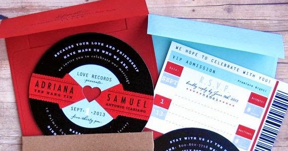 Paperchase Wedding Invitations: Beyond The Aisle: Paper Chase: Music-inspired Save The