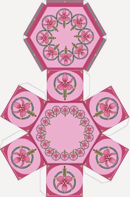 Cajas con Diseño de Orquídeas para Imprimir Gratis.
