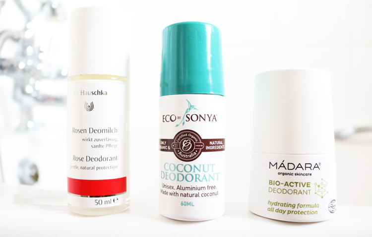 Tried & Tested: 3 Natural Deodorants from Dr Hauschka, Eco by Sonya & Mádara