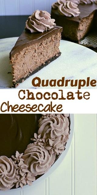 Quadruple Chocolate Cheesecake