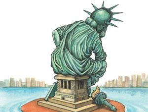"""Unhappy America"""