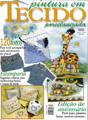 Revista: Pintura em tecido porcelanizada [Portugués]