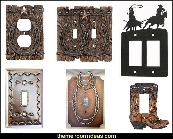 Western Switch Plates  cowboy theme bedrooms - rustic western style decorating ideas - rustic decor - cowboy decor - Cowboy Bedding Western bedroom decor - horse decor - cowboy wall murals horse wall murals