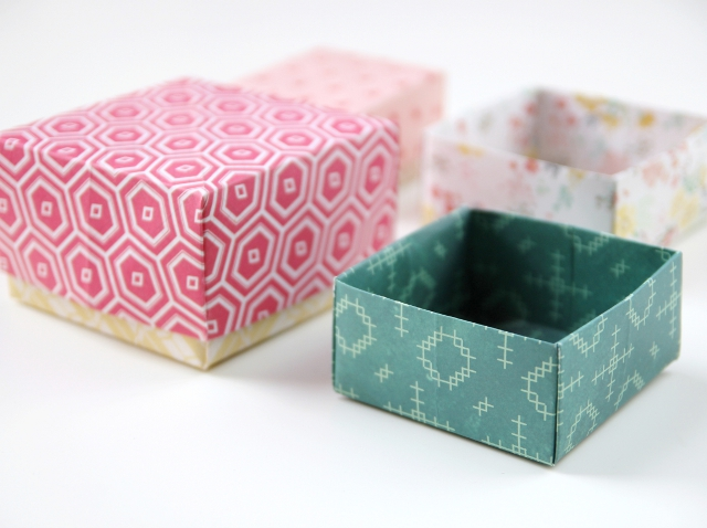 DIY ORIGAMI GIFT BOXES.