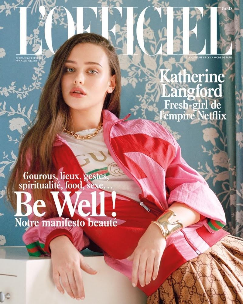 Katherine Langford appeared in the L'Officiel Magazine
