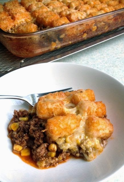 Most Popular Recipe: Tater Tot Shepherd's Pie from Food.Baby.Life #maindish #beef #casserole #SecretRecipeClub #recipe