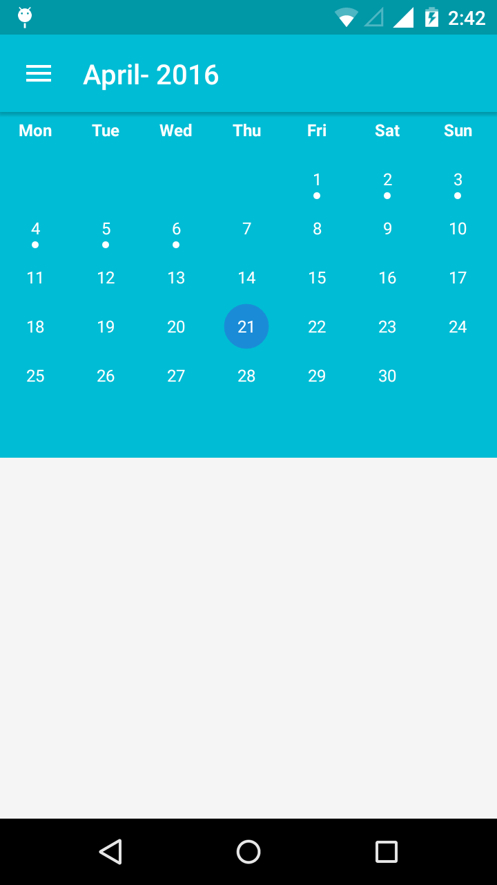 CalendarView like Google Calendar in Android | Android App