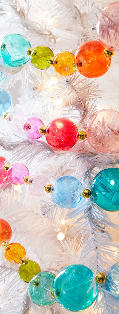Rainbow Ball Garland