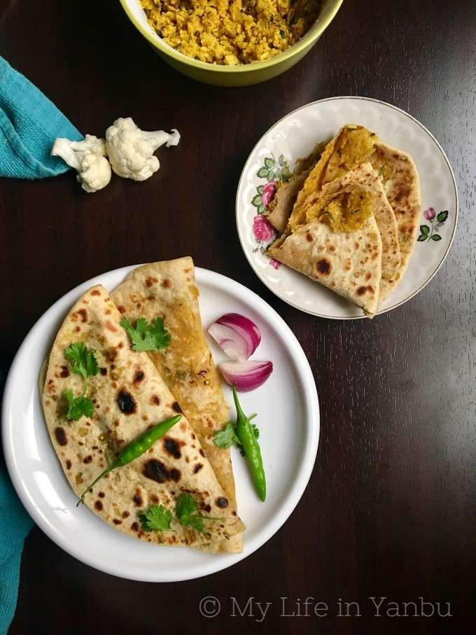 Cauliflower Stuffed Flat-bread | Gobi Ka Paratha