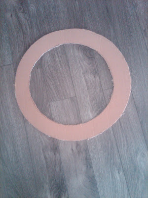 cardboard base for button wreath