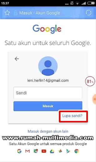 Cara Mengembalikan Akun Google Yang Lupa Password Rumah Multimedia