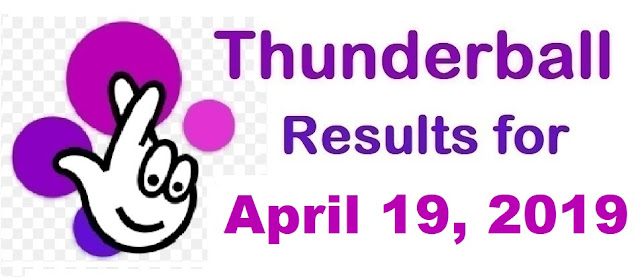 Thunderball results for Friday, April 19, 2019