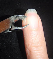cuticle nippers to remove hang nail