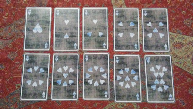 tarot cards hearts cups