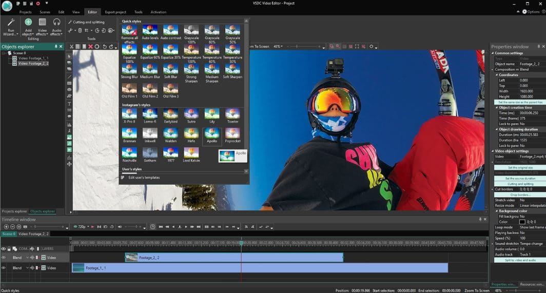 برنامج مونتاج الفيديو واحتراف الإخراج والمونتاج Download VSDC Free Video Editor