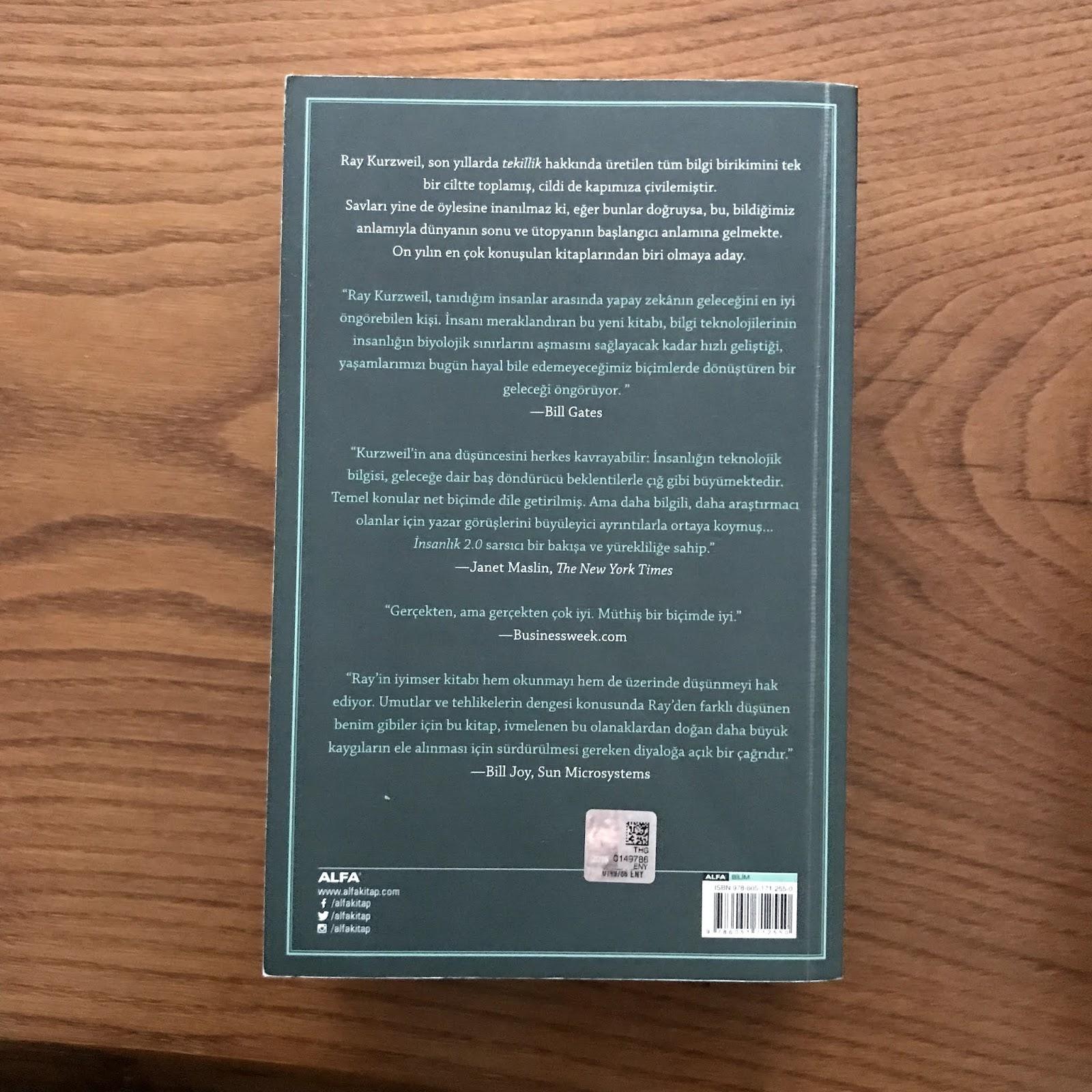 Insanlik 2.0 - Tekillige Dogru Biyolojisini Asan Insan (Kitap)