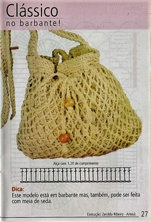 TEJER GANCHILLO CROCHET: Bolso clásico al crochet super fácil con ...