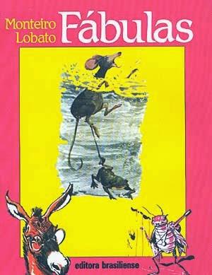 fábulas - monteiro lobato - jean de la fontaine - esopo - editora brasiliense - sítio do picapau amarelo - manoel victor filho - jacob levitinas - década de 1990 - década de 2000 - capa de livro - bookcover