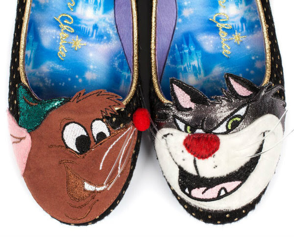 applique toe detail on Irregular Choice Lucifer & Gus shoes