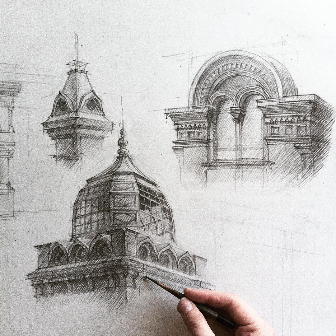 04-Detailed-Dome-Adelina-Gareeva-Detailed-Architectural-Recreations-and-Concept-Drawings-www-designstack-co