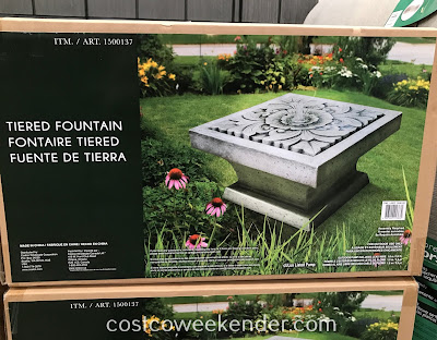 Resin Tiered Fountain: great for any backyard