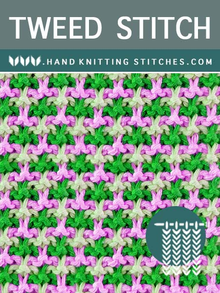The Art of Slip stitch Knitting - Tweed Slip Stitch Pattern.