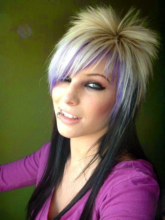 Latest Women Hair Styles Funky Hairstyles For Medium