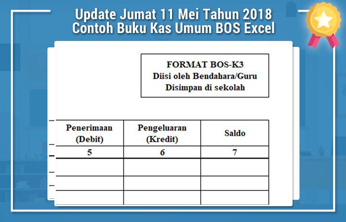 Update Jumat 11 Mei Tahun 2018 Contoh Buku Kas Umum BOS Excel