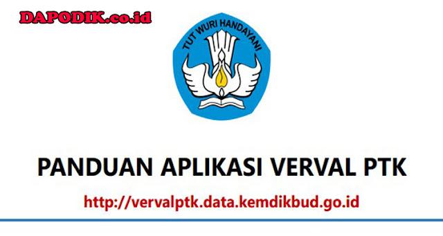 Panduan Aplikasi Verval PTK Vervalptk.Data.Kemdikbud.go.id Terbaru