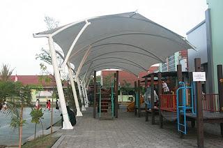 tenda membrane bogor  - gudang canopy