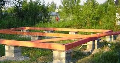 Столбчатый фундамент фото