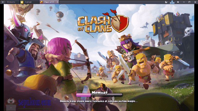 Berman Clash Of Clans di Bluestacks App Player