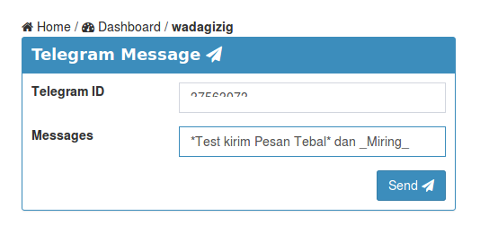 PHP - Membuat Form untuk Mengirim Pesan dengan Telegram Bot