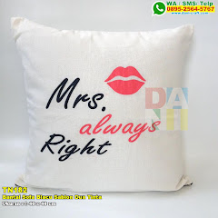 Bantal Sofa Blacu Sablon Dua Tinta
