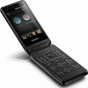Philips Xenium W9588, Smartphone Android Berdesain Flip