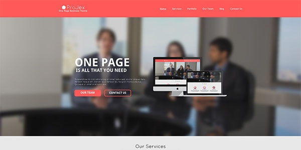 ProJex PSD Website Template