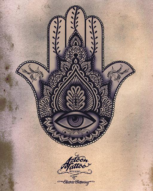 Hamsa - Aztoon Tattoo | Tattoo Ideas | Pinterest