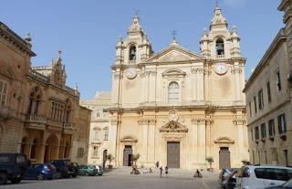Fachada de la Catedral de Mdina.