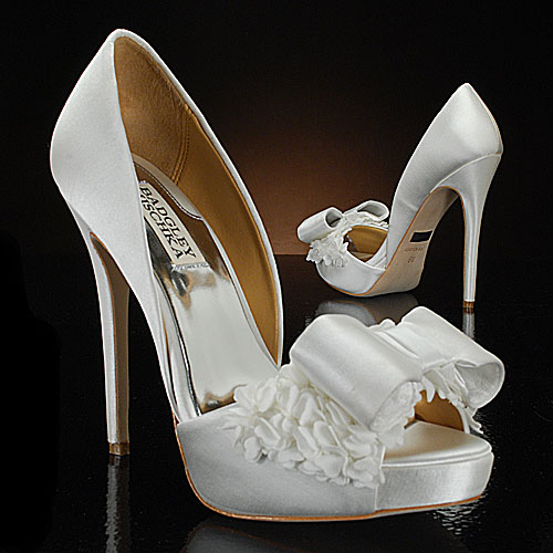 Badgley Mischka White Wedding Shoes